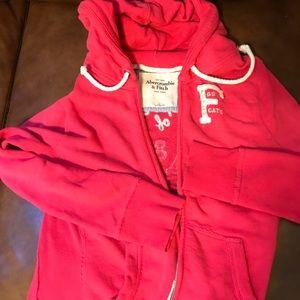 Abercrombie pink zip up hoodie